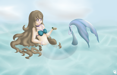 Lucia and a Turtle by Chibitsuna