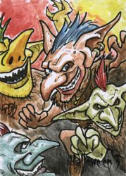 Hallowe'en 3 Sketch Card - Ted Dastick Jr. 2 by Pernastudios