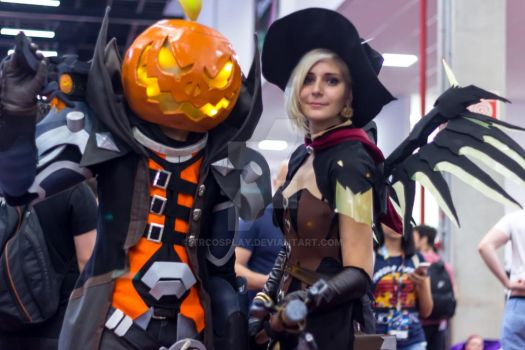 Witch Mercy and pumpkin Reaper by TRcosplay