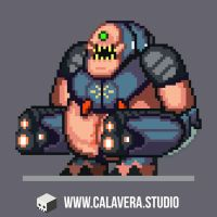 Pixelated Mancubus by evilself