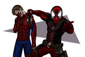 Deadpool and Spidey by halwilliams