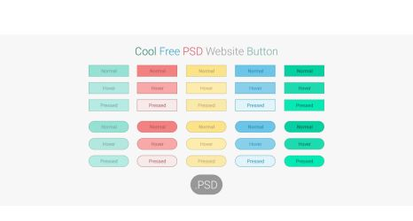 Cool Free PSD Website Button by kingsol04