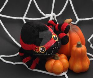 Cute little Halloween spider plush by SugarcubeCherry