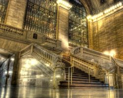 Grand Central Station stairs by spudart