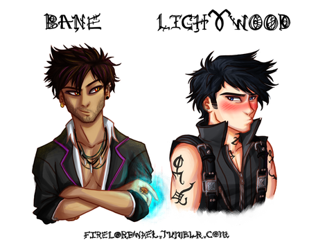 Magnus and Alec by FireLordWael