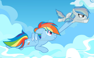 MLP Flying lessons with Mum by BlueSkySilverSong