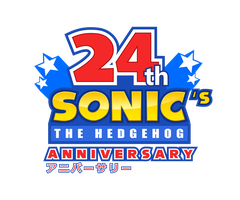 24th Sonic's Anniversary Logo - Happy Birthday! by NuryRush