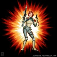 G.I. Joe Resolute Scarlett by timshinn73