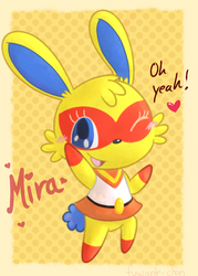 Super Bunny: Mira by KiwiBeagle