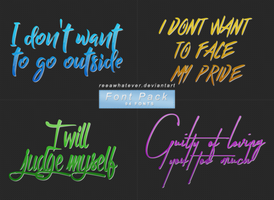 Font Pack 3 - Outside by reeawhatever