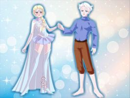 Snow Queen Elsa and Jack Frost SAILOR MOON! by Yandere-ChanKawaii13