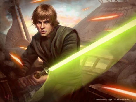 Star Wars: TCG - Luke Skywalker by AnthonyFoti
