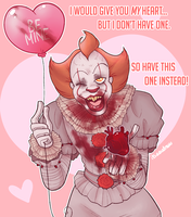 Pennywise Valentine by itsaaudraw