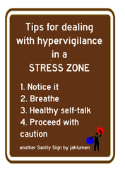 Hypervigilance tips by jaklumen