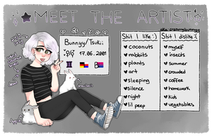 Meet the artist 3.0 by creamybunnyy