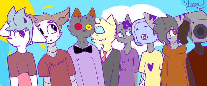 All of my oc's. by NekoChleb