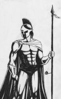 A Spartan Warrior by MiddleLightRiver