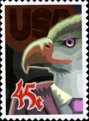Eagle Stamp Project by Alnix
