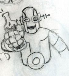 Drinking Robot 2 by WombatOne