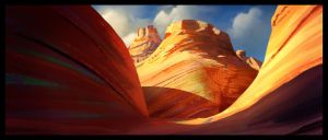 Sandstone canyon by MartinBailly