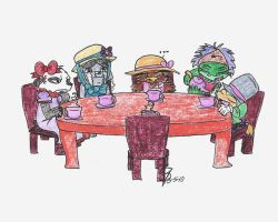 A Fiendish Tea Party by Gustybv