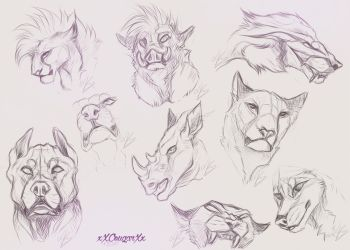 Sketches by xXCougarXx