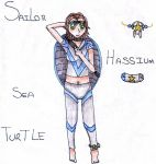 Sailor Hassium Sea Turtle by TheAnomally