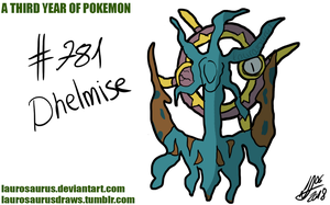 A third year of pokemon: #781 Dhelmise