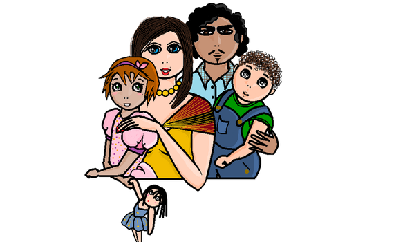 Family in MS Paint by BlossomsToBones
