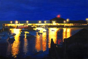 Ballycotton Pier at Dusk by eastcorkpainter