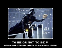 To be or not to be Vader style by DarthDrakkara