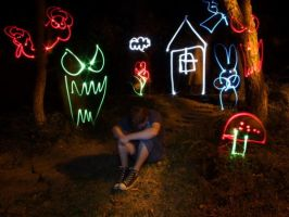 Light Graffiti - nightmare by LightScribblers