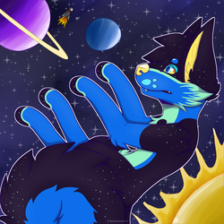 Eclipse Space Drawing by BlackPhoenix613