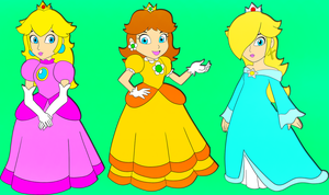 C: Princess Peach, Daisy, Rosalina by DarkSonic250