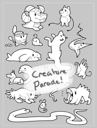 creature parade lines | F2U by omenaadopts