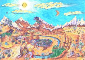 Desert landscape from Theialocriss by Copanel-CP