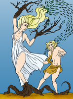 Apollo and Daphne by Blackmoonrose13