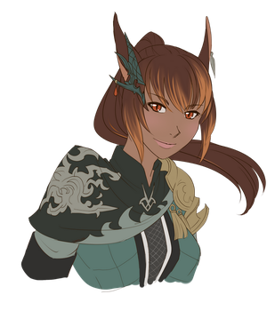 A'lin Flat Color Bust by ikarus-exe