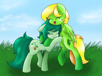 [COMM.] OC Beauty Leaf and Wallflower Blush by MimicProductions