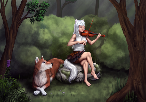 commission - Forest sonata by Mik3TheStrange