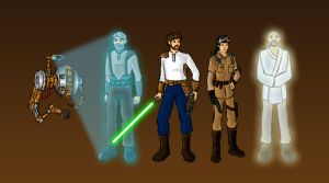 Jedi Knight Heroes by GuiMontag