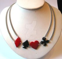 Poker Necklace by cherryboop