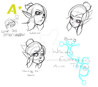 Wraith Expressions Doodles by Sh4rk-K1ng