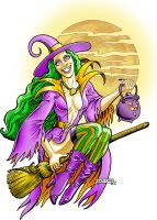 CAC439- Happy Witch by BKMcDevitt
