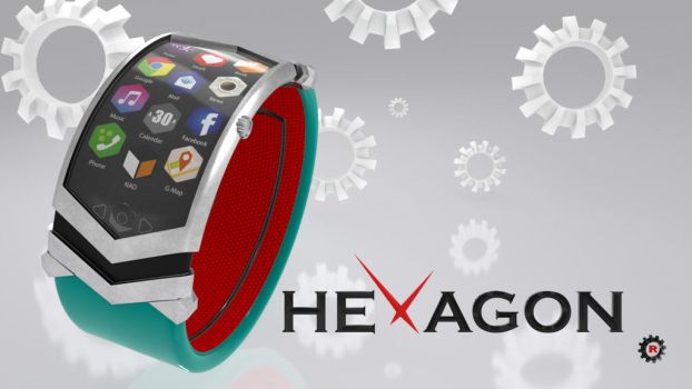 HEXAGON - Watch / Montre 1 by griffon3d