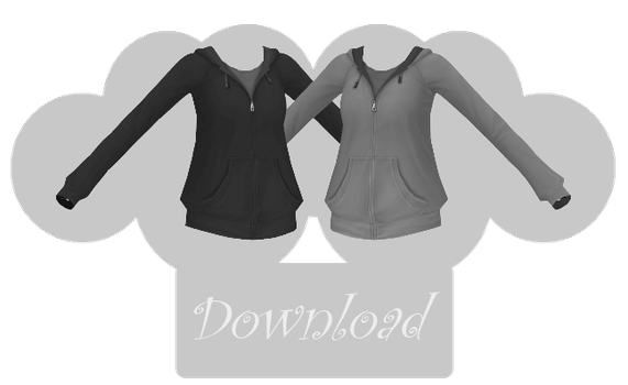 [MMD] BAGGY HOODIE [+DL] by Sims3Ripper