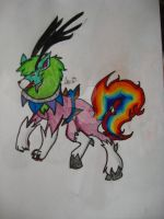 RAINBOW LION, WOLF, DEER THINGY! by Kyrifian