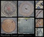 Manhole Cover pack by JayL-stock
