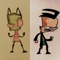 Zim and Dib by MOTLEYLOMBAXCRUE666