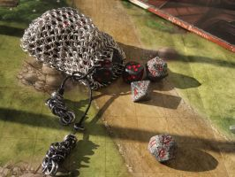 Medium Chainmaille Dice Bag by ofmyhats